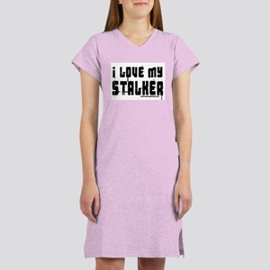 I Love My Stalker Women's Pink Nightshirt