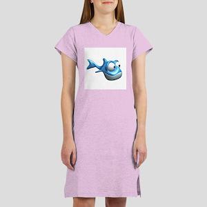 Bug Eyes Fish Women's Nightshirt