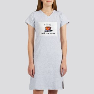 Fueled by Cafe con Leche Women's Nightshirt