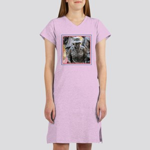Vietnam Womens Memorial 3 Women's Pink Nightshirt