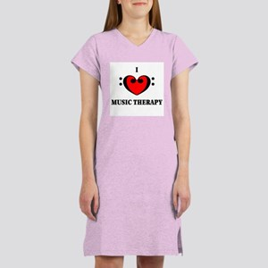 I Luv Music Therapy Women's Nightshirt