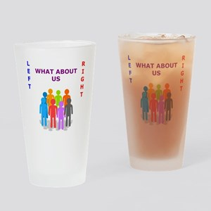 What About Us ? Drinking Glass
