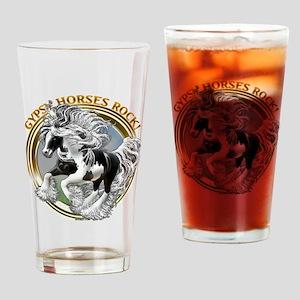 Gypsy Horses Rock Drinking Glass