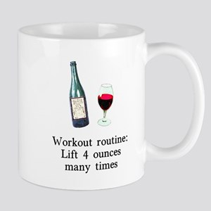 Workout Routine 4 ounces Mug