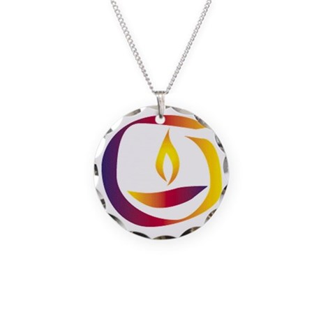 Rainbow Chalice Necklace Circle Charm