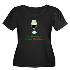 Dreaming of a Wine Christmas T