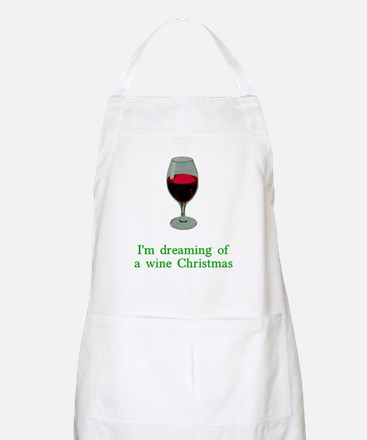 Dreaming of a Wine Christmas Apron