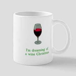 Dreaming of a Wine Christmas Mug