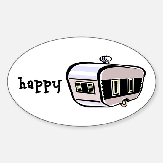 Happy Camper Sticker (Oval)