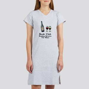 Reading Between Wines Women's Nightshirt