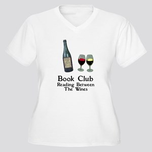 Reading Between Wines Women's Plus Size V-Neck T-S