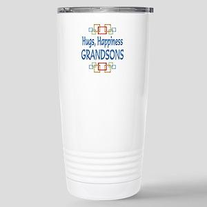 Grandson Hugs Stainless Steel Travel Mug