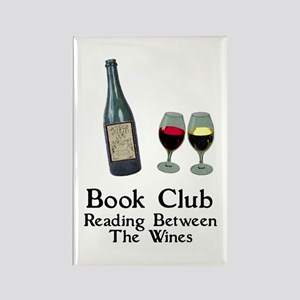Reading Between Wines Rectangle Magnet