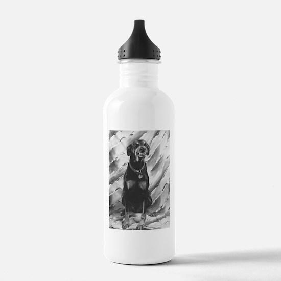 Smiling Doberman Water Bottle