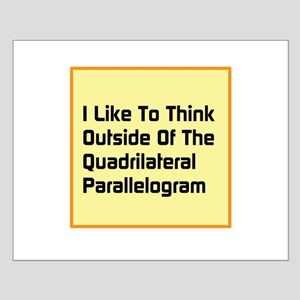 Quadrilateral Parallelogram Small Poster
