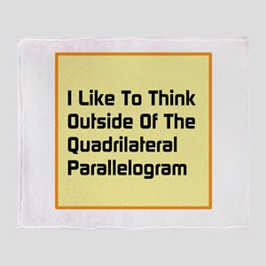 Quadrilateral Parallelogram Throw Blanket