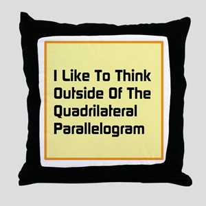 Quadrilateral Parallelogram Throw Pillow