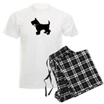 Scottish Terrier Silhouette Men's Light Pajamas