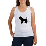 Scottish Terrier Silhouette Women's Tank Top
