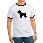Scottish Terrier Silhouette Ringer T