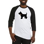 Scottish Terrier Silhouette Baseball Jersey