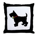 Scottish Terrier Silhouette Throw Pillow