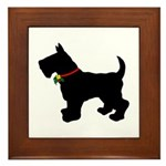 Scottish Terrier Silhouette Framed Tile