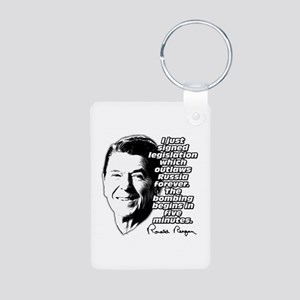 "Reagan ""Outlaw Russia Forever"" Aluminum Photo Keyc"