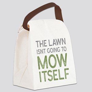 Mow The Lawn Canvas Lunch Bag