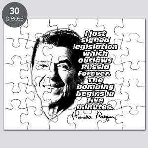 """Reagan """"Outlaw Russia Forever"""" Puzzle"""