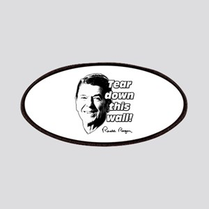 """Reagan Quote """"Tear Down This Wall"""" Patches"""