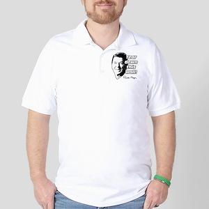 "Reagan Quote ""Tear Down This Wall"" Golf Shirt"