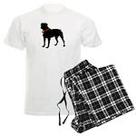 Rottweiler Silhouette Men's Light Pajamas