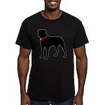 Rottweiler Silhouette Men's Fitted T-Shirt (dark)