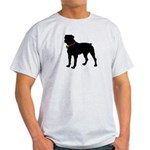 Rottweiler Silhouette Light T-Shirt