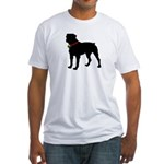 Rottweiler Silhouette Fitted T-Shirt