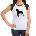 Rottweiler Silhouette Women's Cap Sleeve T-Shirt