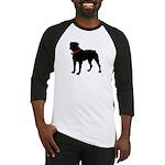Rottweiler Silhouette Baseball Jersey