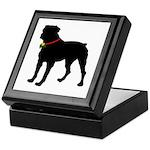 Rottweiler Silhouette Keepsake Box