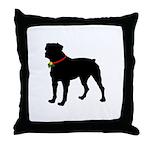 Rottweiler Silhouette Throw Pillow