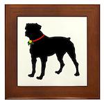 Rottweiler Silhouette Framed Tile