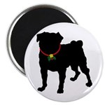 Pug Silhouette Magnet