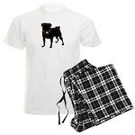 Pug Silhouette Men's Light Pajamas