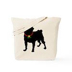 Pug Silhouette Tote Bag