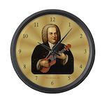 J.S. Bach on Uke Large Wall Clock