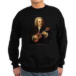 J.S. Bach on Uke Sweatshirt (dark)