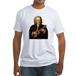 J.S. Bach on Uke Fitted T-Shirt