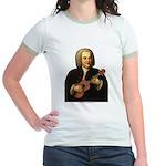J.S. Bach on Uke Jr. Ringer T-Shirt