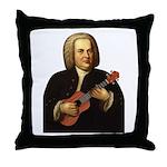J.S. Bach on Uke Throw Pillow