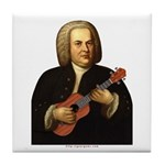 J.S. Bach on Uke Tile Coaster